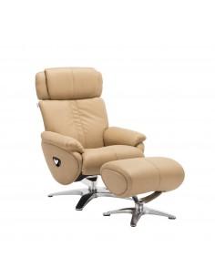 Кресло-реклайнер ALPHA 109, кожаное