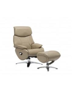 Кресло-реклайнер ALPHA 118, кожаное