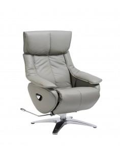 Кресло-реклайнер ALPHA 128, кожаное