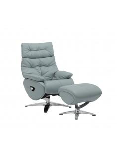 Кресло-реклайнер ALPHA 136, кожаное