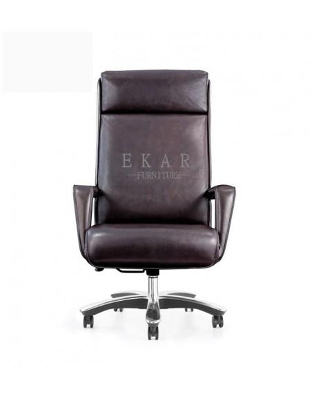 Кресло MY-6015-HL для руководителя, кожаное